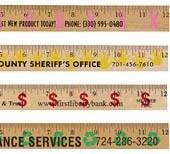 Background Rulers - Clear Lacquer Finish