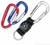 6 Cm Mini Carabiner With Compass Option