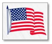 "Static Cling Inside Window Flag - 3 1/2"" X 4 1/4"" Inches"