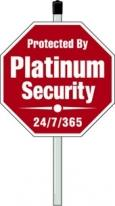 One Color Security Signs - Octagon