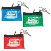 Translucent Vinyl Coin & Key Zippered Pouch