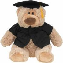 Graduation Cap & Gown - Medium Outfit With Animal