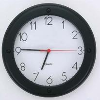 "11"" Round Black Matte Wall Clock"