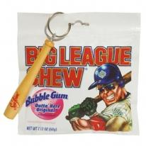 Big League Chew & Baseball Bat Key Chain
