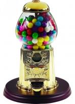 9-in. Metal And Glass Gumball Machine - Gold Plated