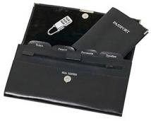 Genuine Leather Travel Wallet Office On-the-Go Collection