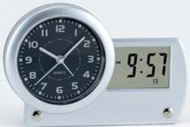 Dual Time Desk Clock With Date