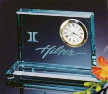 Jade Crystal Block Clocks