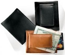 Magnetic Money Clip With Card Pocket-Florentine Napa 2.6 oz