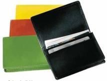 Fully Gusseted Business Card Case - Synthetic Leather 1.1 oz