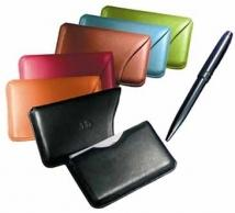 Slide-Out Business Card Case - Genuine Split 2 oz.