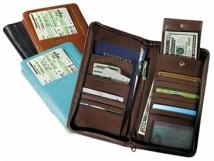 International Document/Passport Case - Genuine Split 9.8 oz.