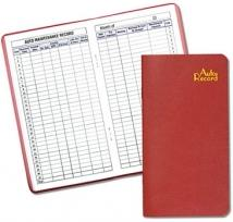 Auto Record Book - Saddle-Stitched - Leatherette Covers