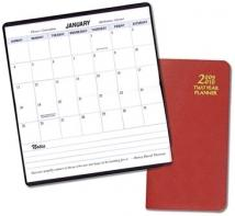 Two Year Pocket Planners - Leatherette Covers