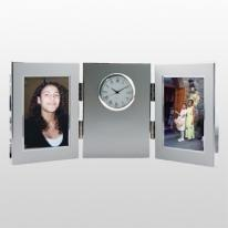 Two Tone Silver Picture Clock