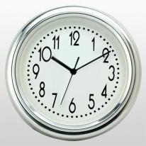 "10"" Pewter Finish Wall Clock"
