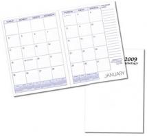 Monthly Desk Appointment Planners - Economy Cover: White