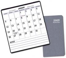 Large Print Monthly Pocket - Frosted Vinyl Covers