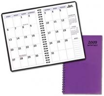 Large Print Monthly Desk Planners - TechnoColor Covers