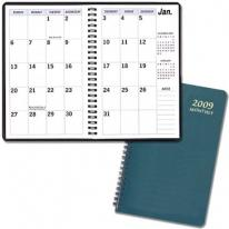 Large Print Monthly Desk Planners - Leatherette Covers