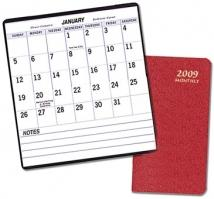 Large Print Monthly Desk Planners - Ostra Covers