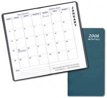 Monthly Pocket - Upright - Leatherette Covers