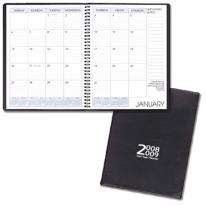 Two-Year Monthly Desk Planners - Continental Vinyl Covers