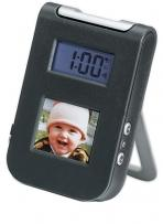 "1.5"" Digital Picture Viewer/Travel Alarm Clock"