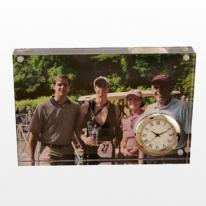 Acrylic Magnetic Photo Base With Clock