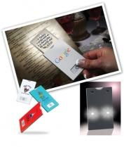 Card-Sized Lighted Magnifier With Flashlight