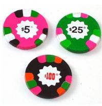 Poker Chips - Chocolate - Foiled