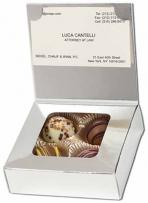 Business Card Box With Chocolate Filled Truffles