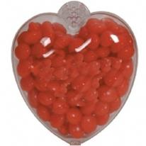 Heart Plastic Container (Hinged) - Small - Empty
