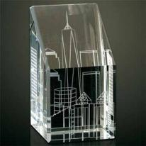Downtown 3-D Optical Crystal Paperweight