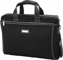 Forli Throw Leather/Nylon Briefcase