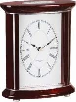 Wood Brushed Aluminum Desk Clock