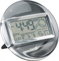 Termo Acrylic & Chrome Digital Clock/Weather Station