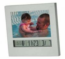 "3"" x 2\"" Photo Frame, Calendar and Mini Clock"
