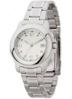 Silver Finish With White Dial Mens & Ladies Watch
