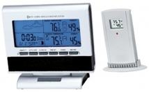 Weather Sation Desk Clock/Rf Wireless Indoor/Outdoor Temp.