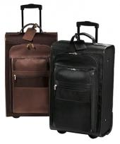 Metro Suitcase On Wheels - Leather/Nylon 11 Lbs. 6 oz.