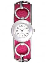 Pedre - Wyndham Women's Fuchsia Horse Bit Bangle Watch