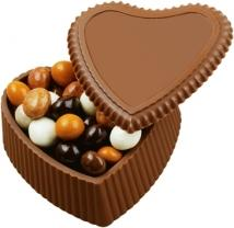 8 oz. Custom Chocolate Heart Box With Premium Confection