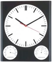 3 in 1 Wall Clock With Hygrometer & Thermometer