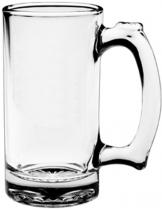 12.5 oz. Thumbprint Glass Tankard