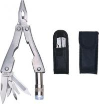 Metal Multi-Function Pliers/Tools & Flashlight in Case