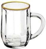 10 oz. Optic Haworth Glass Coffee Mug