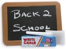Plastic Blackboard With Chalk