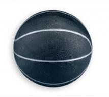 "7"" Black & Silver Basketballs"