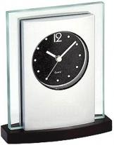 Elegant Desk Clock - Wood Base